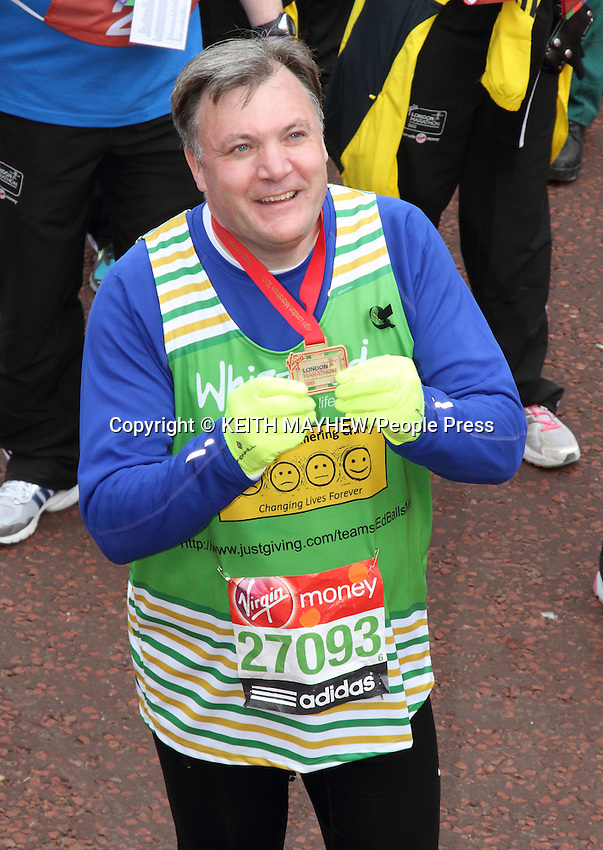 London Marathon 2013 - Celebrities at the finish of the race, London  - April 21st 2013..Photo by Keith Mayhew...