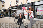 Mary O'Donoghue from the Santury Spa took the Ice Bucket Challenge in the Square on Thursday Pictured Mary O'Donoghue and Fiona O'Donoghue