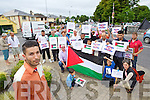 Palestinian Ghassan Aldawud on left at the Vigil in solidarity with the people of Gaza in Tralee Outside the County Council buildings at Rathass on Wednesday.