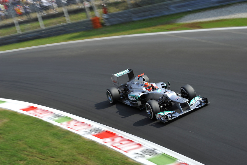 .Michael Schumacher (GER), Mercedes GP ..2012 FIA Formula One World Championship - Italian Formula One Grand Prix, Circuit Autodromo Nazionale di Monza, Monza, Italy. Saturday 8th September 2012...