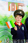 Cathal O'Sullivan at the presentation of the tricolour and Proclamation at Listellick NS to commemorate the 100 year anniversary on Monday