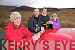 Pictured at the scene of a mountain fire in Castlegregory on Tuesday Night were Mary O'Shea, Firemen Maurice Griffin and John M O'Donnell and Elaine Van Keulen.