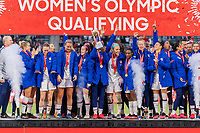 CARSON, CA - FEBRUARY 9: The USWNT celebrates during a game between Canada and USWNT at Dignity Health Sports Park on February 9, 2020 in Carson, California.