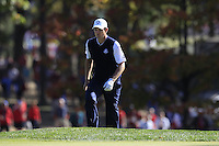 European Team Player Justin Rose (ENG) on the 16th green during Sunday's Singles Matches of the 39th Ryder Cup at Medinah Country Club, Chicago, Illinois 30th September 2012 (Photo Colum Watts/www.golffile.ie)