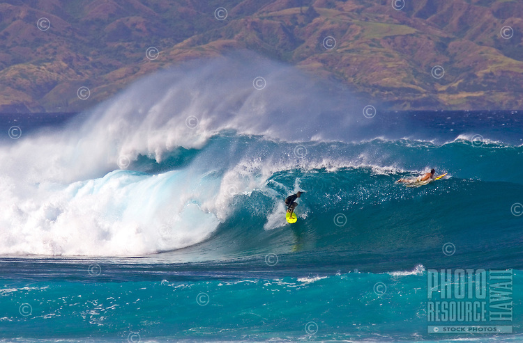 Perfect conditions on Maui's north shore.