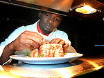Aldwin Parris with Sea Food Pancake..Picture Paul Mohan Newsfile