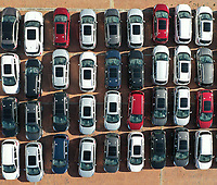 BOGOTA, COLOMBIA - APRIL 24: Cars for sale are seen on a parking lot near Bogota, on April 24, 2020. The car sales in Colombia plummet during March due to Covid-19 pandemic. (Photo by Daniel Munoz/VIEWpress via Getty Images)
