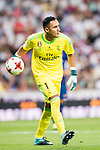 Goalkeeper Keylor Navas of Real Madrid in action during their Supercopa de Espana Final 2nd Leg match between Real Madrid and FC Barcelona at the Estadio Santiago Bernabeu on 16 August 2017 in Madrid, Spain. Photo by Diego Gonzalez Souto / Power Sport Images