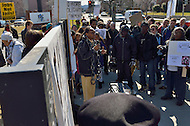 February 20, 2012  (Washington, DC)  Protestors from Occupy DC and several other organizations gathered near the DC Jail to protest corporate involvement in the prison system.  (Photo by Don Baxter/Media Images International)