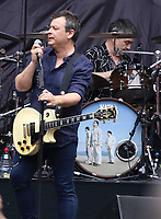 Manic Street Preachers perform on stage , supporting Bon Jovi during their This House Is Not For Sale tour at Wembley Stadium, London on June 21st 2019<br /> <br /> Photo by Keith Mayhew