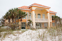 Mansion on the Gulf beach.  Clearwater Beach Tampa Bay Area Florida USA