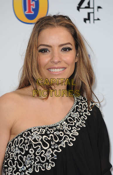 ELEN RIVAS.The British Comedy Awards 2011at Indigo, The O2 Arena, London.England, UK..January 22nd, 2011.arrivals headshot portrait eyeshadow make-up beauty smiling one shoulder black  .CAP/WIZ.© Wizard/Capital Pictures.