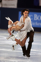 November 19, 2005; Paris, France; Figure skating stars FEDERICA FAIELLA and MASSIMO SCALI of Italy skate to bronze in ice dancing at Trophee Eric Bompard, ISU Paris Grand Prix competition.  They are one of the favorites for medals in ice dancing leading up to Torino 2006 Olympics.<br />Mandatory Credit: Tom Theobald/<br />Copyright 2005 Tom Theobald