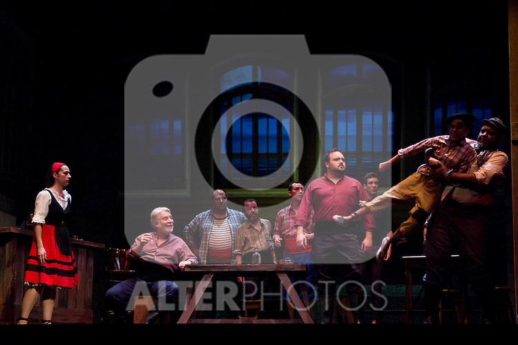 31.07.2012. Press Pass at the Teatro Cofidis in Madrid, the Zarzuela 'The port tavern'. (Alterphotos/Marta Gonzalez)