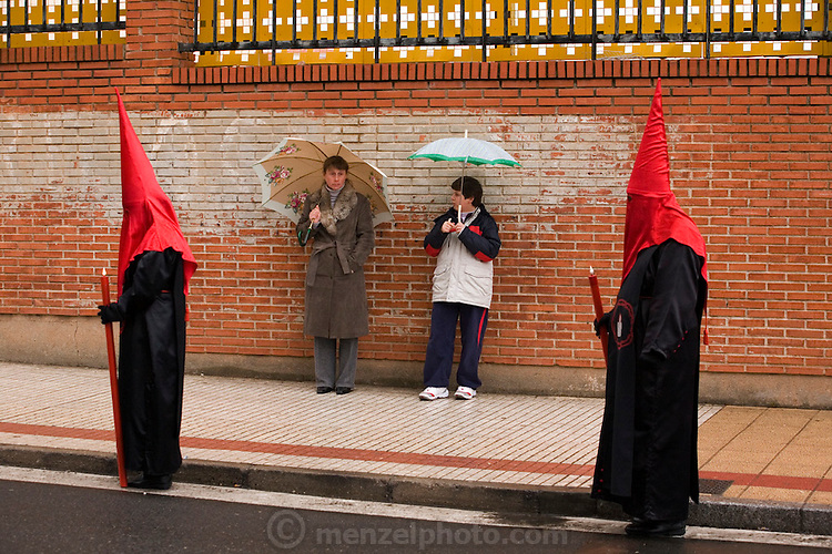 Semana Santa (Holy Week).  Street processions are organized in most Spanish towns each evening, from Palm Sunday to Easter Sunday. People carry statues of saints on floats or wooden platforms, and an atmosphere of mourning can seem quite oppressive to onlookers