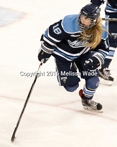 Cassidy Herman (Maine - 18) - The Boston College Eagles defeated the visiting University of Maine Black Bears 2-1 on Saturday, October 8, 2016, at Kelley Rink in Conte Forum in Chestnut Hill, Massachusetts.  The University of North Dakota Fighting Hawks celebrate their 2016 D1 national championship win on Saturday, April 9, 2016, at Amalie Arena in Tampa, Florida.