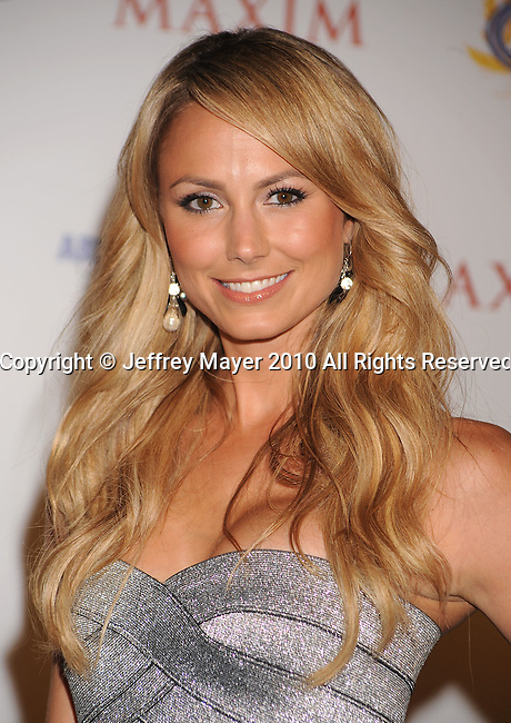 LOS ANGELES, CA. - May 19: Stacy Keibler arrives at the 11th Annual MAXIM HOT 100 Party at Paramount Studios on May 19, 2010 in Los Angeles, California.