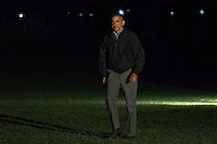United States President Barack Obama walks on the South Lawn towards the White House after arriving on Marine One in Washington, D.C., U.S., on Monday, Nov. 21, 2016. President Obama is returning from his final foreign trip that included meetings and summits in Greece, Germany and Peru. <br /> Credit: Andrew Harrer / Pool via CNP /MediaPunch