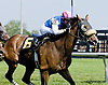 Red Hot Tweet (#3) and Green Wave Girl (#6) both winning at Delaware Park racetrack on 6/18/14