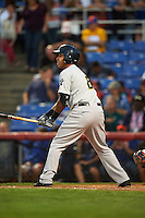 Trenton Thunder third basmean Cito Culver (6) at bat during a game against the Binghamton Mets on August 8, 2015 at NYSEG Stadium in Binghamton, New York.  Trenton defeated Binghamton 4-2.  (Mike Janes/Four Seam Images)