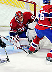 26 October 2009: Montreal Canadiens' goaltender Jaroslav Halak makes a first period save against the New York Islanders at the Bell Centre in Montreal, Quebec, Canada. The Canadiens defeated the Islanders 3-2 in sudden death overtime for their 4th consecutive win. Mandatory Credit: Ed Wolfstein Photo