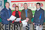 AGM; The Crotta senior hurling club held their AGM in Kilflynn Community Hall, on Saturday night Top table l-r: Mike Parker, Anetta Nolan, Paddy Weir and Johnny Hannon.