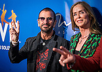LAS VEGAS, NV - July 14, 2016: Ringo Starr and Barbara Bach pictured arriving at The Beatles LOVE by Cirque Du Soleil at The Mirage Resort in Las vegas, NV on July 14, 2016. Credit: Erik Kabik Photography/ MediaPunch