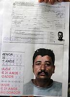 S&Atilde;O PAULO,SP,27 JUNHO 2012 - MENINA DESAPARECIDA PRIS&Atilde;O SUSPEITO<br /> Retrato do homem suspeito preso no inicio da tarde de de hoje do acusado de sequestrar a menina Brenda. FOTO ALE VIANNA / BRAZIL PHOTO PRESS