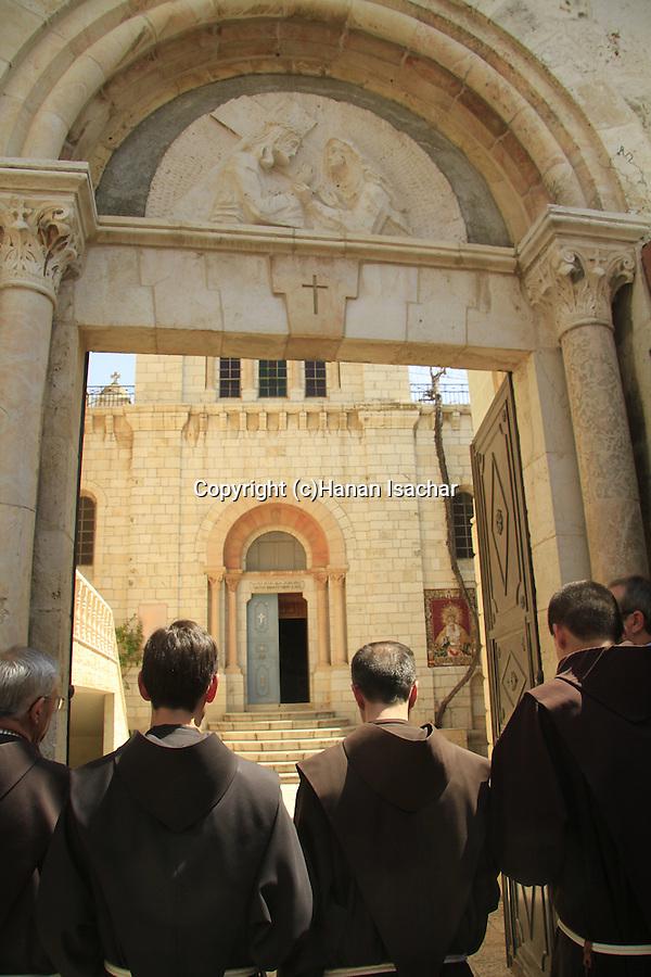 Israel, Jerusalem, Good Friday at the 4th station of the Via Dolorosa