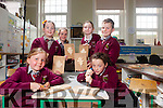"""Senior students from Knockaclarig National School under the guidance of woodcarver John Murphy are taking part in a wood carving programe entitled """"Crafted Project"""", pictured l-r: Ciara Lane, Siobhan O'Connor, Mikayla Murphy, Rebecca Mulvihill, Ewan Murphy and Sarah Mahony"""