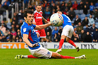 John Marquis of Portsmouth just fails to connect in the dying seconds during Portsmouth vs Gillingham, Sky Bet EFL League 1 Football at Fratton Park on 12th October 2019