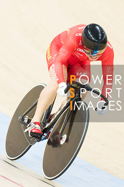 The team of China with Guo Shuang and Lin Junhong competes in Women's Team Sprint  Final match as part of the 2017 UCI Track Cycling World Championships on 12 April 2017, in Hong Kong Velodrome, Hong Kong, China. Photo by Victor Fraile / Power Sport Images