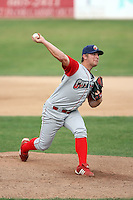 September 6 2008:  Pitcher Kyle Drabek of the Williamsport Crosscutters, Class-A affiliate of the Philadelphia Phillies, during a game at Russell Diethrick Park in Jamestown, NY.  Photo by:  Mike Janes/Four Seam Images