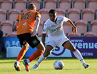 Pictured: Jefferson Montero of Swansea City (R) against Harry Taylor of Barnet (L) Wednesday 12 July 2017<br /> Re: Pre-season friendly, Barnet v Swansea City FC at The Hive, London, UK