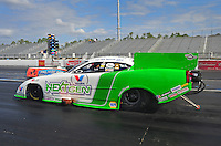 Jan. 17, 2012; Jupiter, FL, USA: NHRA funny car driver Jack Beckman during testing at the PRO Winter Warmup at Palm Beach International Raceway. Mandatory Credit: Mark J. Rebilas-