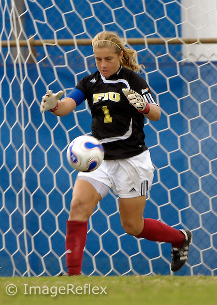 Madeline Gannon (1)  plays for FIU against Louisiana-Lafayette on October 14, 2007. The game ended in a scoreless tie after two overtime periods..