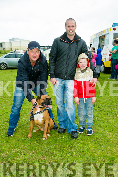 l-r  Kevin Stegews, David Oda and Dillon Oda from Caherslee with OZZIE  at the KERRY PONY SOCIETY 37th Annual Show & Gymkhana At Blennerville on Sunday