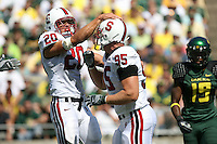 2 September 2006: Clinton Snyder (20) and Chris Horn (95) during Stanford's 48-10 loss to the Oregon Ducks at Autzen Stadium in Eugene, OR.