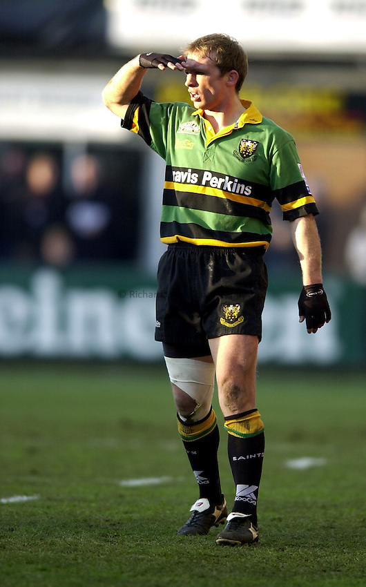 Photo. Richard Lane. .Northampton Saints v Biarritz. Heineken Cup. 11/01/2003..Matt Dawson