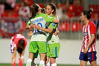 VfL Wolfsburg's Tessa Wullaert (l) and Sara Bjork Gunnarsdottir celebrate goal during UEFA Womens Champions League 2017/2018, 1/16 Final, 1st match. October 4,2017. (ALTERPHOTOS/Acero) /NortePhoto.com /NortePhoto.com