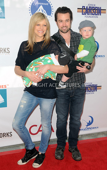 WWW.ACEPIXS.COM . . . . .  ....April 15 2012, LA....Kaitlin Olson, Rob McElhenney and Leo Grey McElhnney arriving at the 3rd Annual Milk And Bookies Story Time Celebration at the Skirball Cultural Center on April 15, 2012 in Los Angeles, California.....Please byline: PETER WEST - ACE PICTURES.... *** ***..Ace Pictures, Inc:  ..Philip Vaughan (212) 243-8787 or (646) 769 0430..e-mail: info@acepixs.com..web: http://www.acepixs.com