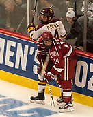 Neal Pionk (UMD - 4), Alexander Kerfoot (Harvard - 14) - The University of Minnesota Duluth Bulldogs defeated the Harvard University Crimson 2-1 in their Frozen Four semi-final on April 6, 2017, at the United Center in Chicago, Illinois.