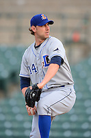 Durham Bulls pitcher Jim Paduch #14 during a game against the Rochester Red Wings on May 17, 2013 at Frontier Field in Rochester, New York.  Rochester defeated Durham 11-6.  (Mike Janes/Four Seam Images)