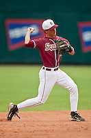 March 29, 2011:    Florida State Seminoles inf Justin Gonzalez (10) throws from shortstop during action between Florida Gators and Florida State Seminoles played at the Baseball Grounds of Jacksonville in Jacksonville, Florida.  Florida State defeated Florida 5-2............