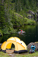 Camping on Culross Island, Prince William Sound, Chugach National Forest, Alaska.