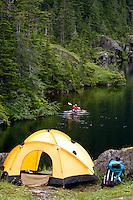 Camping on Culross Island, Prince William Sound, Chugach National Forest, Alaska.