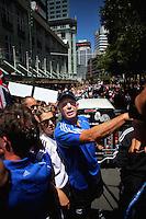 2011 Wellington IRB sevens parade in the Wellington CBD, Wellington, New Zealand on Thursday, 3 February 2011. Photo: Dave Lintott / lintottphoto.co.nz
