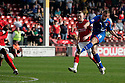 Joel Byrom of Stevenage shoots. - Walsall v Stevenage - npower League 1 - Banks's Stadium, Walsall - 24th March, 2012  .© Kevin Coleman 2012