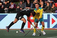 Aidan Sarikaya. Pro League Hockey, Vantage Blacksticks Men v Australia, ANZAC test. North Harbour Hockey Stadium, Auckland, New Zealand. Thursday 25 April 2019. Photo: Simon Watts/Hockey NZ