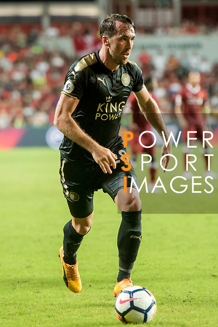 Leicester City FC defender Christian Fuchs in action during the Premier League Asia Trophy match between Liverpool FC and Leicester City FC at Hong Kong Stadium on 22 July 2017, in Hong Kong, China. Photo by Weixiang Lim / Power Sport Images